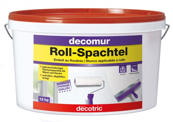 Decotric Glatte Wand Roll-Spachtel 12 kg