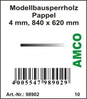 Amco Modellbau Sperrholz Pappel