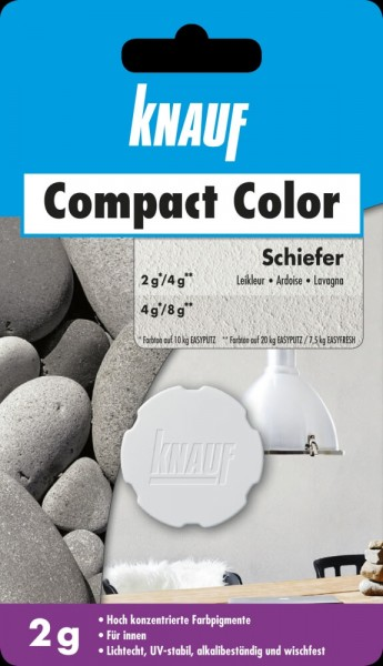 Knauf Farbpigment Compact Color 2 g schiefer