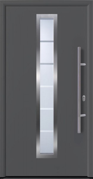 Hörmann Haustür EcoDoor 1100 x 2100 mm DIN links titan Metallic