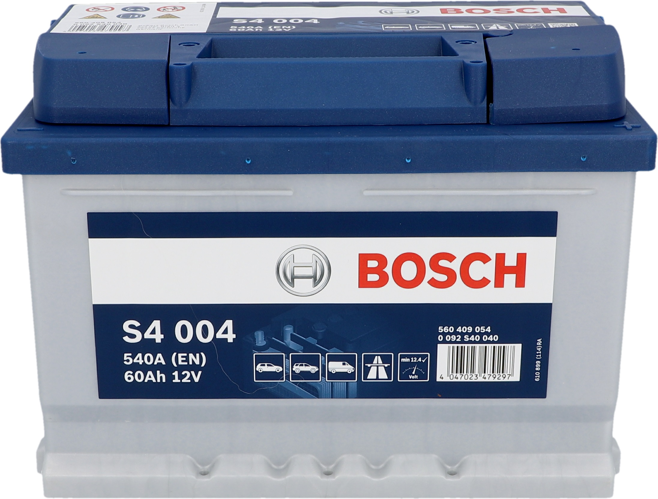 bosch starterbatterie s4 60 ah 540 a batterien auto globus baumarkt online shop. Black Bedroom Furniture Sets. Home Design Ideas