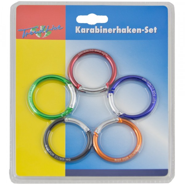 Karabinerhaken-Set Ring