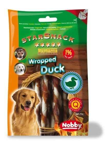 Nobby StarSnack Barbecue Wrapped Duck 70 g