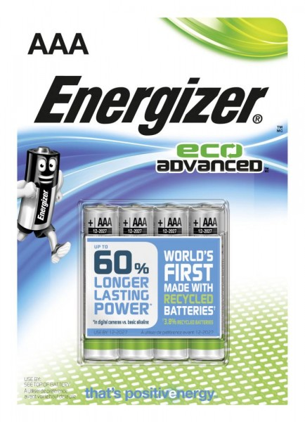 Energizer Alkaline Eco Advanced Micro AAA 1,5 V 4er Pack