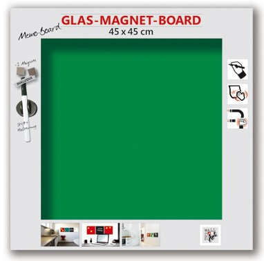 The Wall Glas- Magnetboard grün 45 x 45 cm