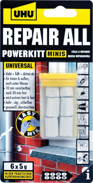 UHU Repair All Powerkitt 6 x 5 g minis