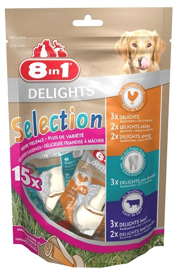 #8in1 Hundesnack Delights Selection XS#