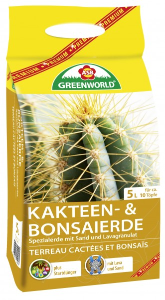 ASB Greenworld Kaktus & Bonsai Spezialerde 5 l