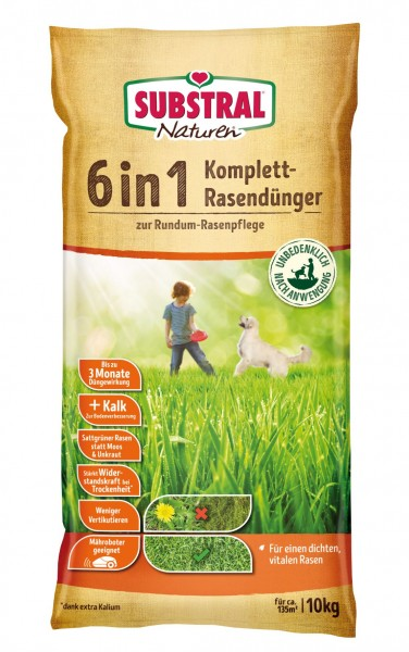 Substral Naturen 6 in 1 Komplett-Rasendünger für 133 m² 10 kg