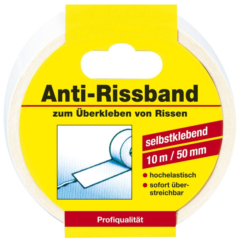 #Decotric Anti-Rissband weiß, 10 m x 50 mm#
