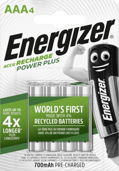Energizer NiMH Akku Power Plus Micro AAA 700 mAh 4er Pack