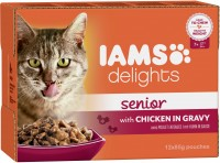Iams Delights Katzennassfutter Senior Huhn in Sauce