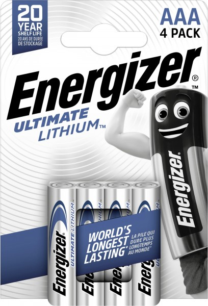 Energizer Ultimate Lithium Micro AAA 1,5 V 4er Pack