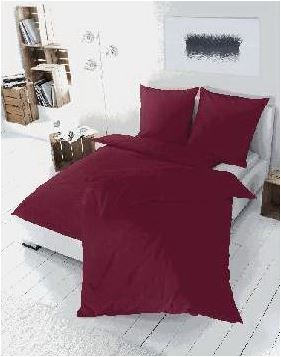 Vario Bettwäsche Satin uni bordeaux, 135 x 200 cm