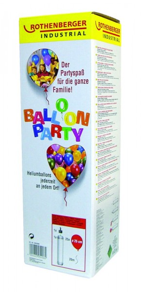 Rothenberger Ballongas Party Set 2 l Helium 25 Ballons