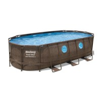 Bestway Power SteelFrame Pool Komplett-Set, oval,