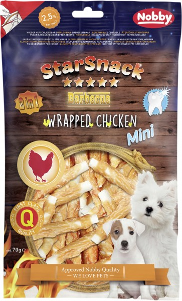 Nobby StarSnack PUPPY & SMALL Wrapped Chicken ,113 g