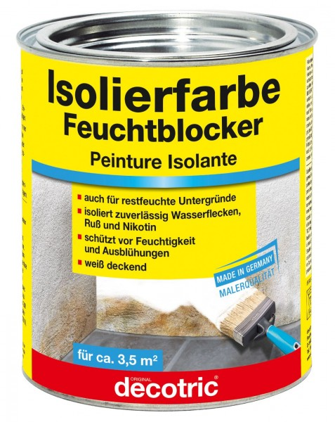 Decotric Isolierfarbe Feuchtblocker 750 ml
