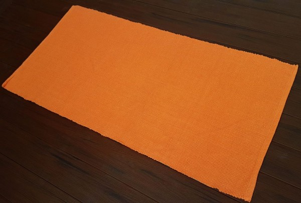 TrendLine Fleckerlteppich Uni orange 70 x 140 cm