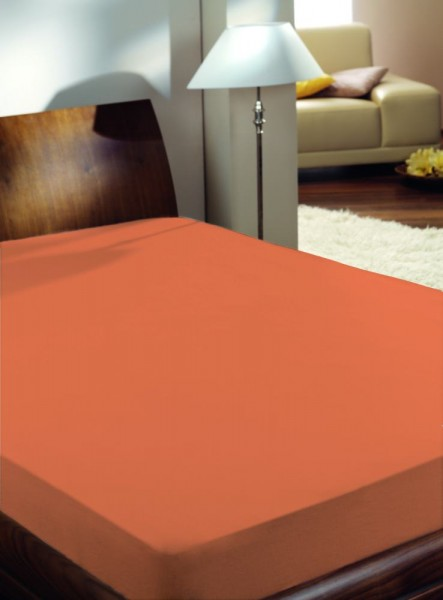Vario Satin-Spannbetttuch orange 150 x 200 cm