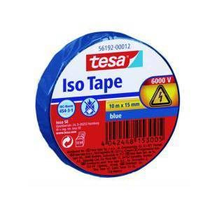 Tesa Isolierband 10 m x 15 mm blau