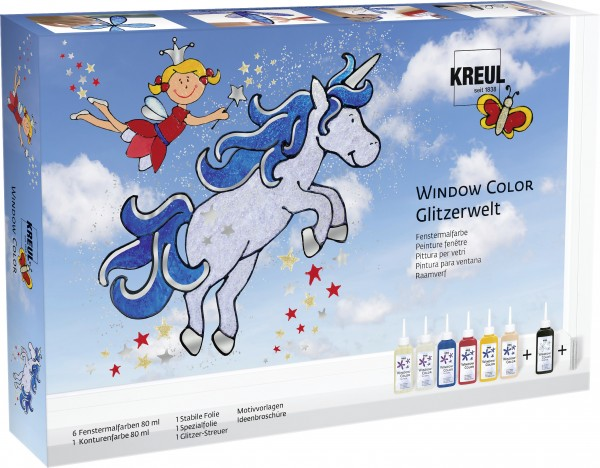 Kreul Window Color Glitzerwelt Set