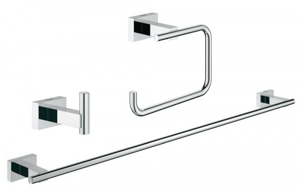 GROHE Essentials Cube Bad-Set 3 in 1 Metall chrom glänzend