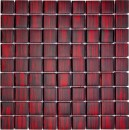 Mosaikfliese Glas Chill Out 29 x 29 cm rot